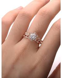 new savings on moissanite engagement ring set rose gold engagement