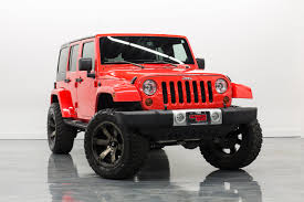 lifted jeep red home ultimate rides of coal city chicagoland truck jeep auto