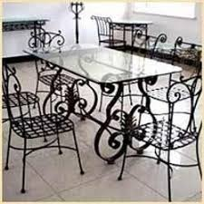 Rod Iron Dining Room Set Wrought Iron Dining Table Set In Kolkata West Bengal Traders