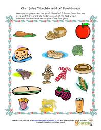 kids u0027 food groups christmas worksheet christmas printables