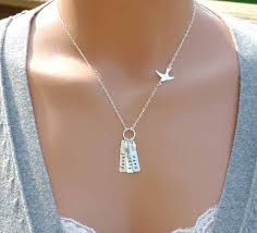 necklace with kids initials mothers necklace with names necklace