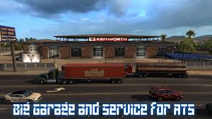 big garage and service for ats v1 mod american truck simulator