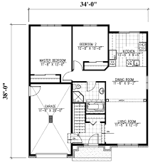 traditional style house plan 2 beds 1 00 baths 952 sq ft plan