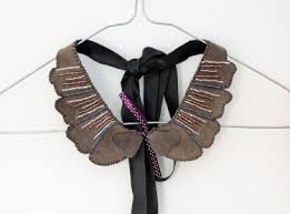 collar necklace leather images Recycled leather collar necklace peter pan collar necklace jpg