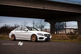 jeep mercedes rose gold tuningcars 2015 mercedes c300 gets gold pur wheels shows its
