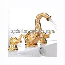 Swan Faucet Gold High Quality Brass Artistic Faucet Gold Fish Faucet Best Sell Item