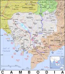 Map Of Cambodia Kh Cambodia Public Domain Maps By Pat The Free Open Source