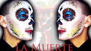 la muerte la catrina mexicana sugar skull makeup tutorial for