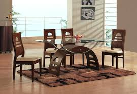 Modern Dining Table With Glass Top And Steel Legs Glass Top Dining Glass Top Dining Room Tables Rectangular
