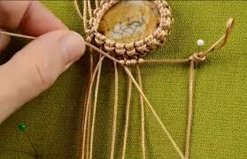 make necklace with stone images Diy macrame necklace with stone and beads diy projects craft ideas jpg