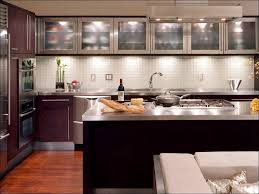 kitchen subway tile backsplash ideas grey and white floor tiles