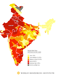 Map India Four Maps That Show How Severe India U0027s Water Problem Is
