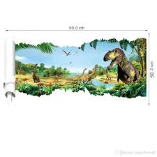 Boy Nursery Wall Decals by Large 3d View Jurassic Time Dinosaur Scroll Wall Decal Sticker