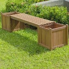 panchine legno panchina con fioriere in legno da esterno per giardino o balcone