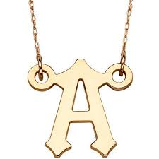 10kt gold initial pendant necklace 20