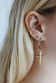 ear hoops best 25 gold hoop earrings ideas on hoop earrings