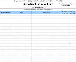 free printable price list template save word templates price list