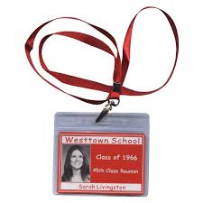 name tags for reunions lanyard premium class reunion name tag with scanned yearbook