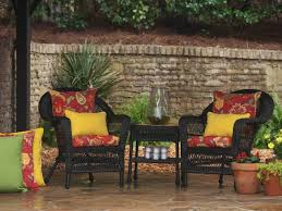 red outdoor seat cushions set for patio u2014 bistrodre porch and