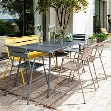 chaises fermob salon de jardin fermob monceau table l146 l80cm 6 chaises