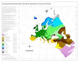 The Map Of Europe by Bioclimatic U0026 Biogeographic Maps
