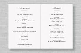 modern wedding programs 8 best images of modern wedding program template wedding