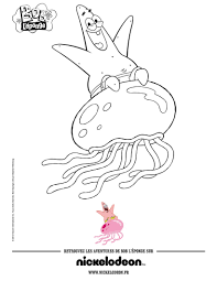 patrick star u0027s jellyfish fun coloring pages hellokids com