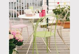 how to spray paint garden chairs and table