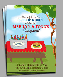 burgers and brew invitation printable or printed with free