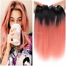 top black hair stylist top quality 1b rose gold ombre human hair weave indian ombre rose