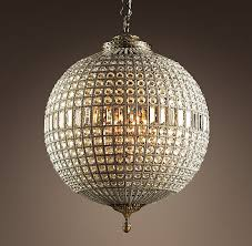 Gazebo Solar Chandelier Crystal Globe Chandelier Antique Brass Large Broughtons Of Best 25