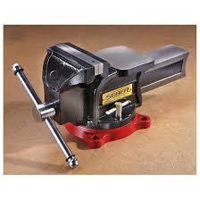 seber quick adjust ratcheting bench vise 224631 garage