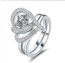 engagement rings sterling silver aliexpress buy vintage flower shape style 0 5ct