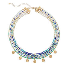 blue beaded necklace images Shades of blue beaded layers necklace avon jpg