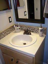 glass tile backsplash ideas bathroom photos hgtv blue bathroom with mosaic glass tile backsplash loversiq