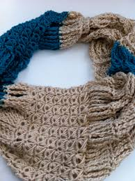 broomstick knitting broomstick lace cowl pattern heart