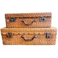 wicker room divider vintage chinese rattan luggage for sale at 1stdibs