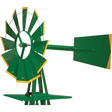 amazon com 8ft ornamental garden windmill green and yellow