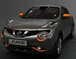 new nissan juke exclusive exterior style pack orange new genuine