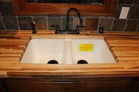 Undermount Sink In Butcher Block Countertop by White Undermount Sink Butcher Block Countertop Big Bear Lake