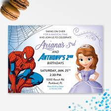 princess and superhero party invitations cimvitation