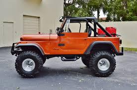 jeep wrangler 4 door orange 1979 jeep cj 7 sport wrangler 4 4 lifted custom suv real muscle