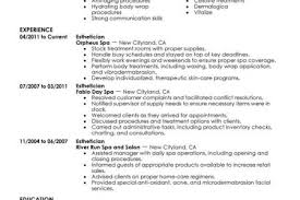 Sample Esthetician Resume New Graduate by Esthetician Resume Reentrycorps