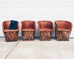 Mexican Chairs Mexican Equipale Leather Chairs Equipale Dining By Vintageandswoon