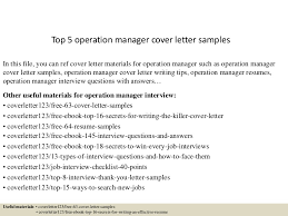 top5operationmanagercoverlettersamples 150618080030 lva1 app6892 thumbnail 4 jpg cb u003d1434614480