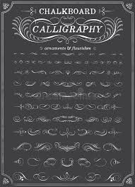 chalkboard calligraphy ornaments stock vector image 45774641