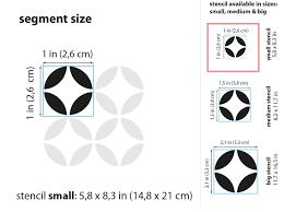 moroccan circles pattern stencil a5 5 8 x 8 3