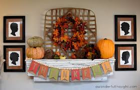 thanksgiving mantel how to make a flip banner a wonderful thought