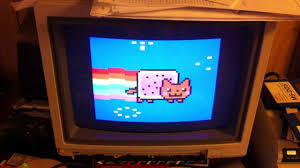 nyancat on 1980s tandy color computer 3 youtube