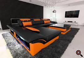 designer sofa leder designer modernes sofa fürs wohnzimmer aus leder in weiß